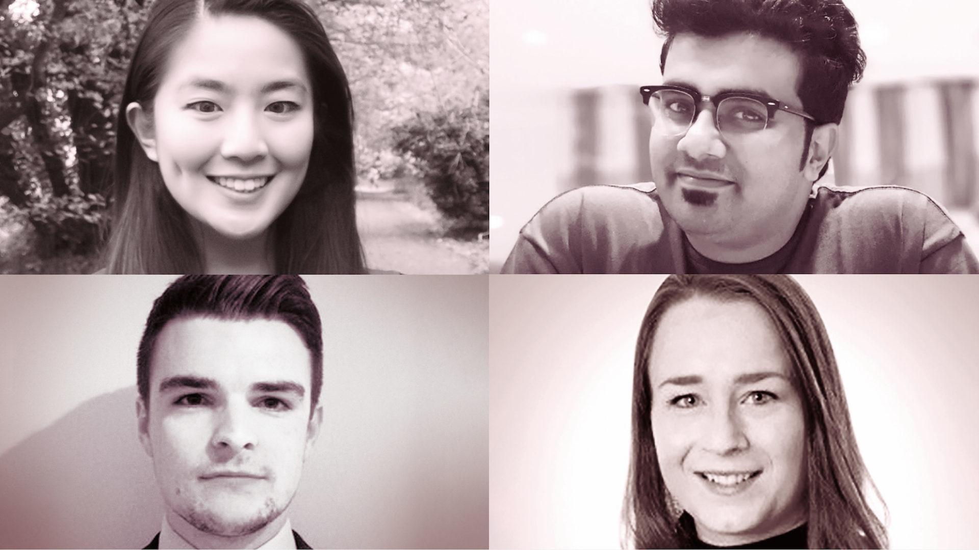 Clockwise from top left: Lin Qi; Don Sibe; Rachael Keeble; Joshua Waterman