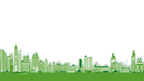 Illustration of green building cityscape. Image: Dreamstime