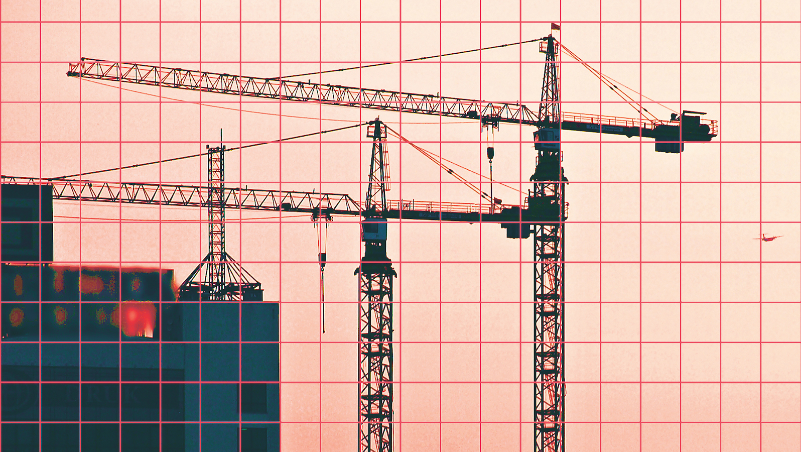 Cranes on construction site. Image: Dreamstime