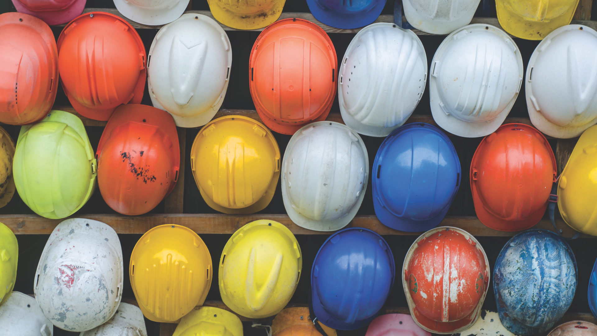 Construction site hard hats. Image: Pexels