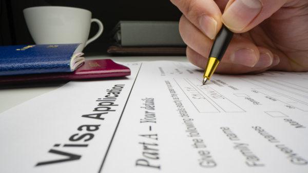Visa application. Image: Dreamstime