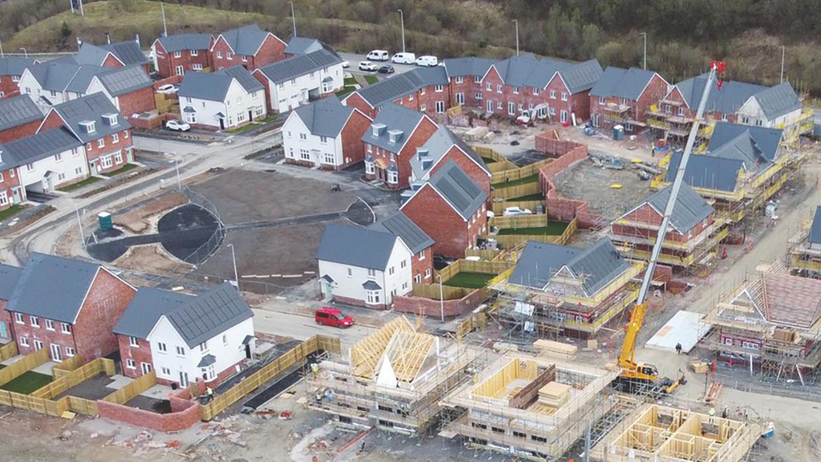 Construction work on Sero's low-carbon development at Parc Eirin, Tonyrefail