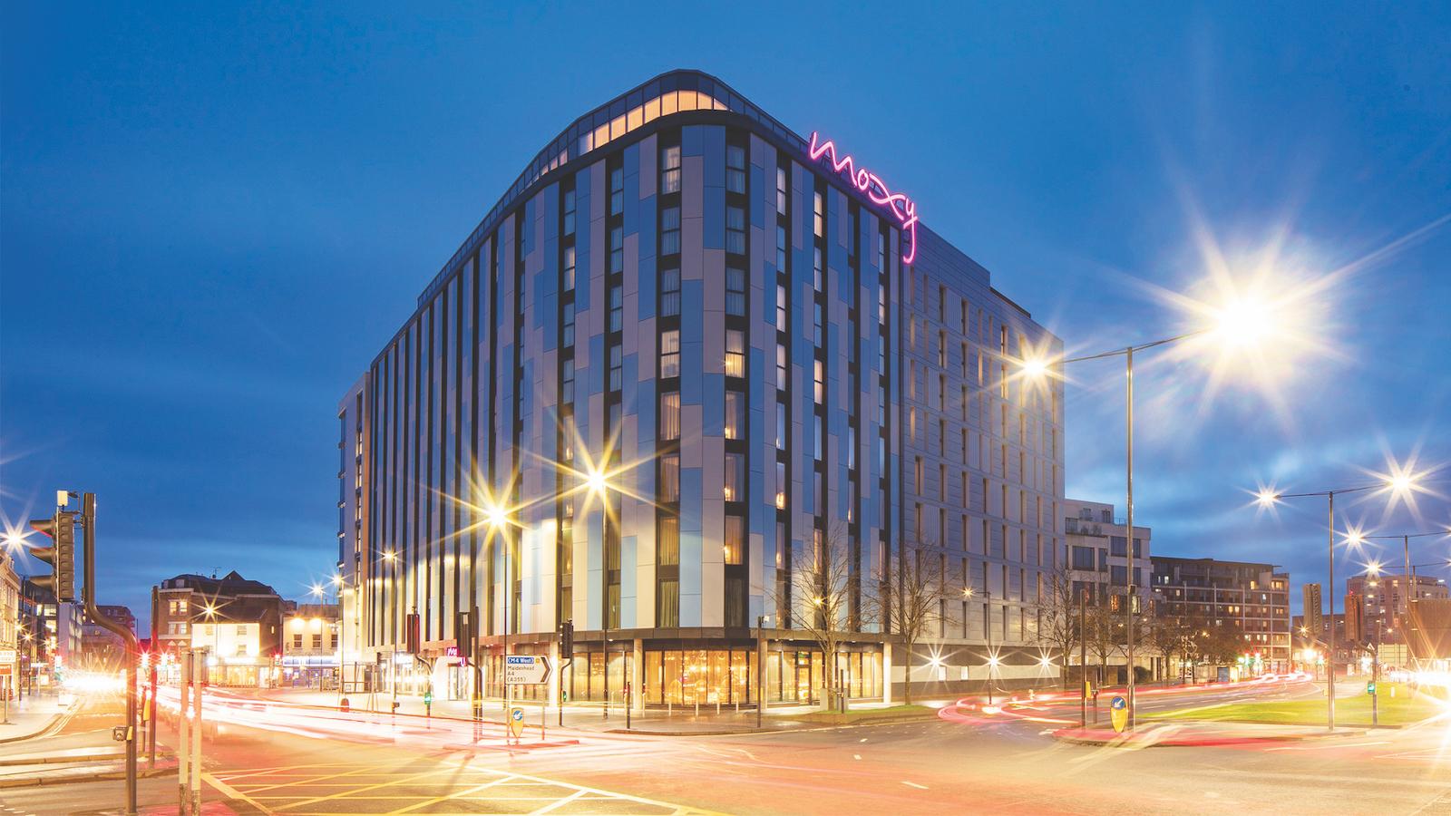 The nine-storey double-decker hotel complex